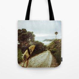 Surfer Boy, Cardiff, California Tote Bag