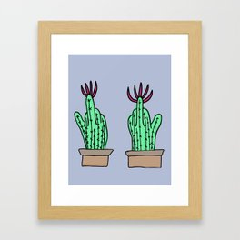 Rude Cactus Framed Art Print