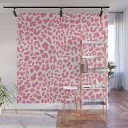 Pink Leopard Print Wall Mural