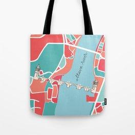 Prague Minimal Map Tote Bag