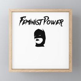 Feminist Power Framed Mini Art Print