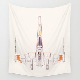 Spaceship Wall Tapestry