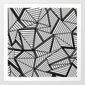 Ab Lines 2 Black and White by projectm