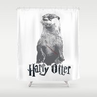 otter Shower Curtains featuring Harry Otter by Tawd86