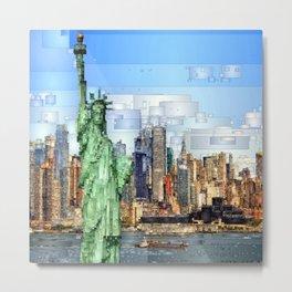 City of New York - Statue of Liberty Metal Print