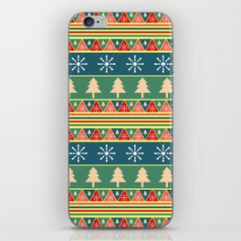 Christmas pattern II iPhone Skin