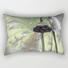 Water Plant Edit Rectangular Pillow