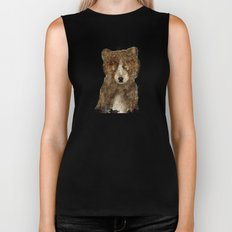 little brown bear Biker Tank