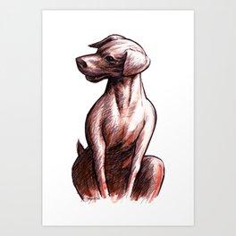 Talking Dogs Art Print
