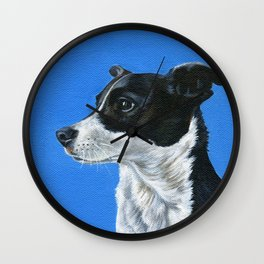 Jack Russell Oil Painting Print Wall Clock