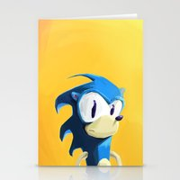sonic Stationery Cards featuring Sonic by tonguestubble