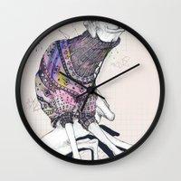 dog Wall Clocks featuring Dog by Anion