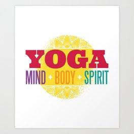 Yoga Mind + Body + Spirit Art Print
