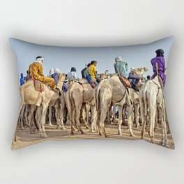 Nomads and camels - Niger, West Africa Rectangular Pillow