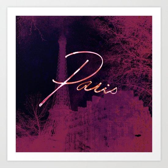 Paris light Art Print