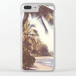Hawaiian Palms Clear iPhone Case
