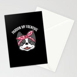 French Bulldog Pardon My Frenchie Stationery Cards