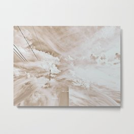 retro sky glitch Metal Print