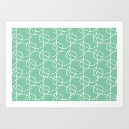 Bubble Pattern Mint #homedecor Art Print