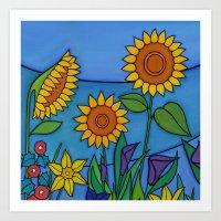 Sunflower Dance Art Print