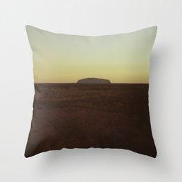 Uluru Dusk Throw Pillow