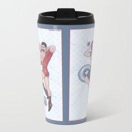 Tony and Bucky Pinups Metal Travel Mug