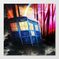 dr who Canvas Prints featuring dr who by shannon's art space