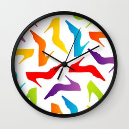 Colorful Womens heels Wall Clock