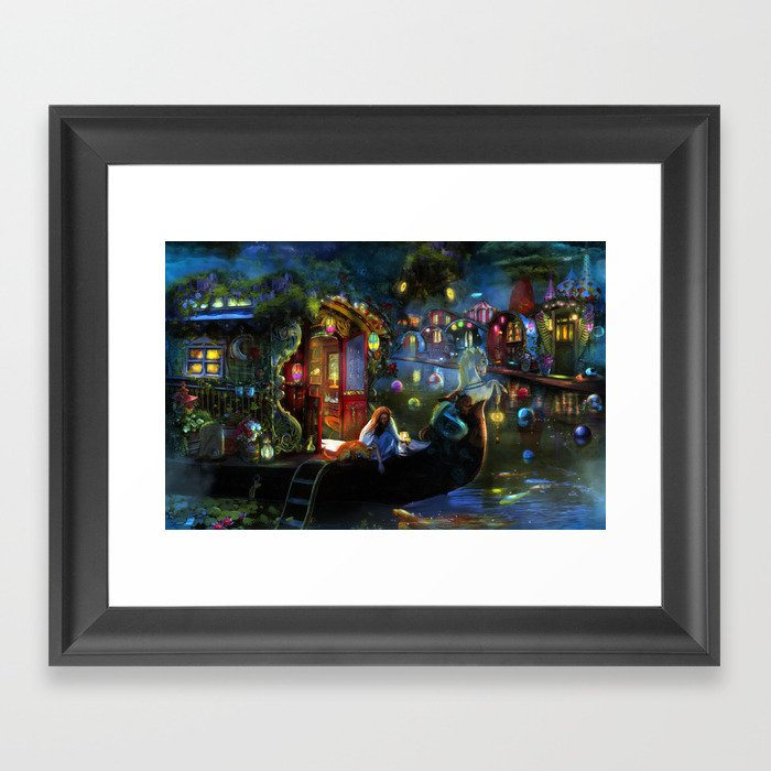 Wanderer's Cove Framed Art Print