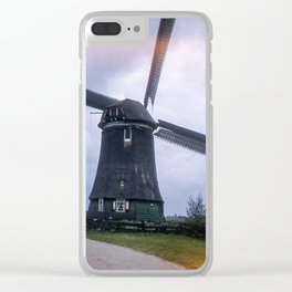 Vintage Color Photo * 1940's * Holland * Windmill * Home * Kodachrome * 1950's Clear iPhone Case