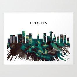 Brussels Skyline Art Print