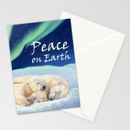 Under The Northern Lights- Peace on Earth Stationery Cards