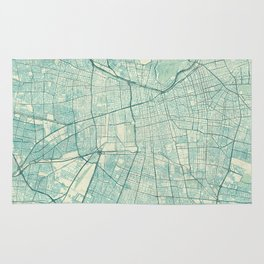 Santiago Map Blue Vintage Rug
