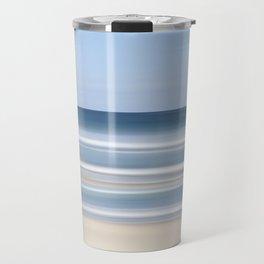 peaceful blue beach Travel Mug