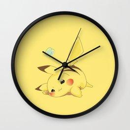 Lazy Pika chu Wall Clock