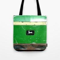 john green Tote Bags featuring John Deere Green..... by LeeRay Flowers