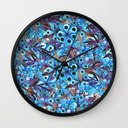 Exactly Where They'd Fall (Floral Pattern) Wall Clock