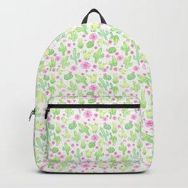 Wild Rose Cactus - Green & Pink Backpack