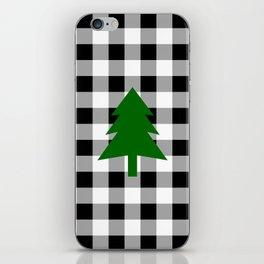 Christmas Tree - black buffalo check iPhone Skin