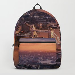 Sunset over London Cityscape (Color) Backpack