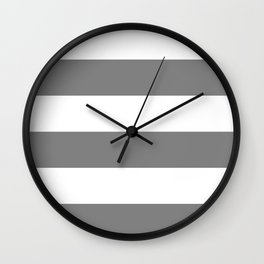 Wide stripes /  gray Wall Clock