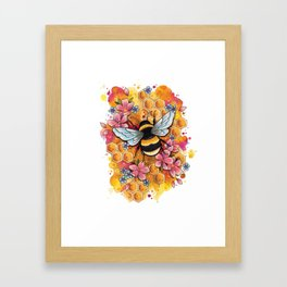 Neo Traditional Bee Framed Art Print