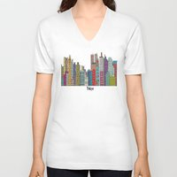 tokyo V-neck T-shirts featuring Tokyo by bri.buckley
