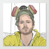 jesse pinkman Canvas Prints featuring JESSE PINKMAN by VivaLaJim