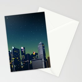 Creative microscopic paper wind midnight Stationery Cards