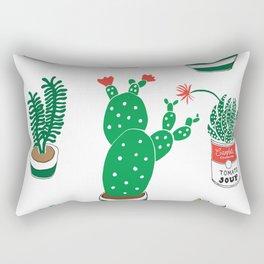 Illustrated Cactii Rectangular Pillow