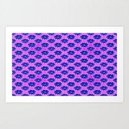 Springtime-power-pattern blue and lilac Art Print