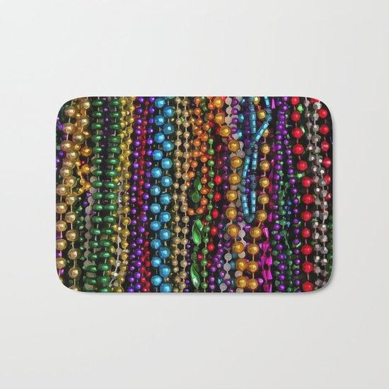 Mardi gras beads Bath Mat