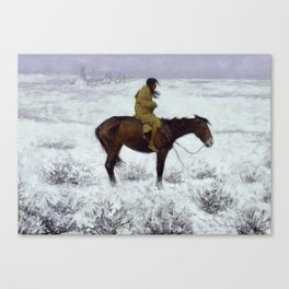 "Frederic Remington Western Art ""The Herd Boy"" Canvas Print"