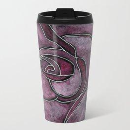 Twinkling Rose Metal Travel Mug